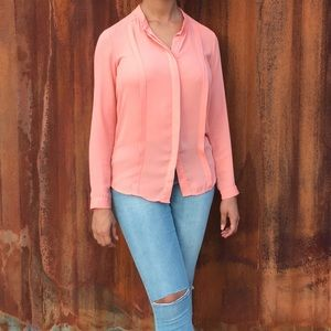 Pleated Blouse by Buttons sz small